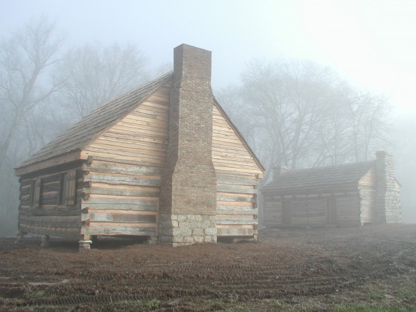 A Foggy Day at The First Hermitage Buildings