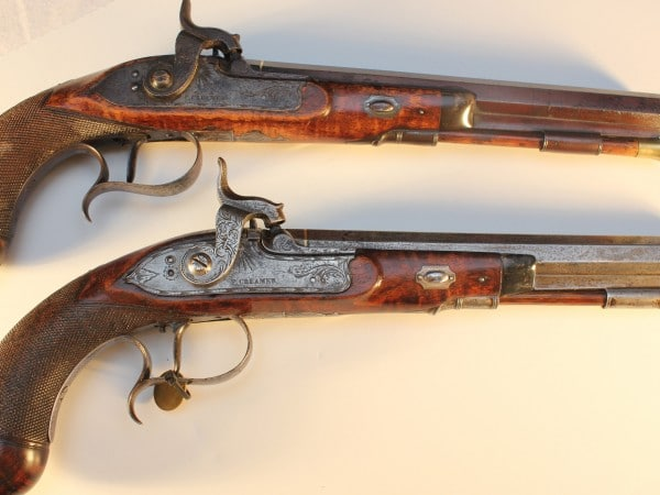 Two Pistols Belonging to Andrew Jackson in His Youth