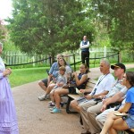 Hermitage Tour Guide Entertains Tour Group
