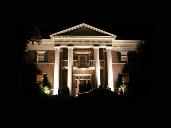 Tulip Grove Mansion Lit Up at Night