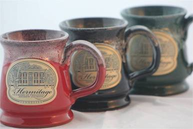 Hermitage Mugs - Red, Black and Green
