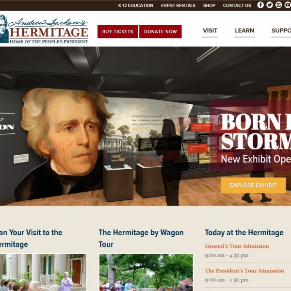 New Andrew Jackson's Hermitage Website