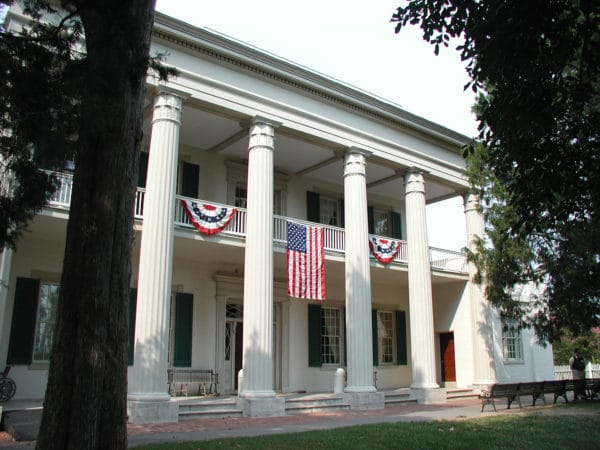 Front of the Hermitage mansion
