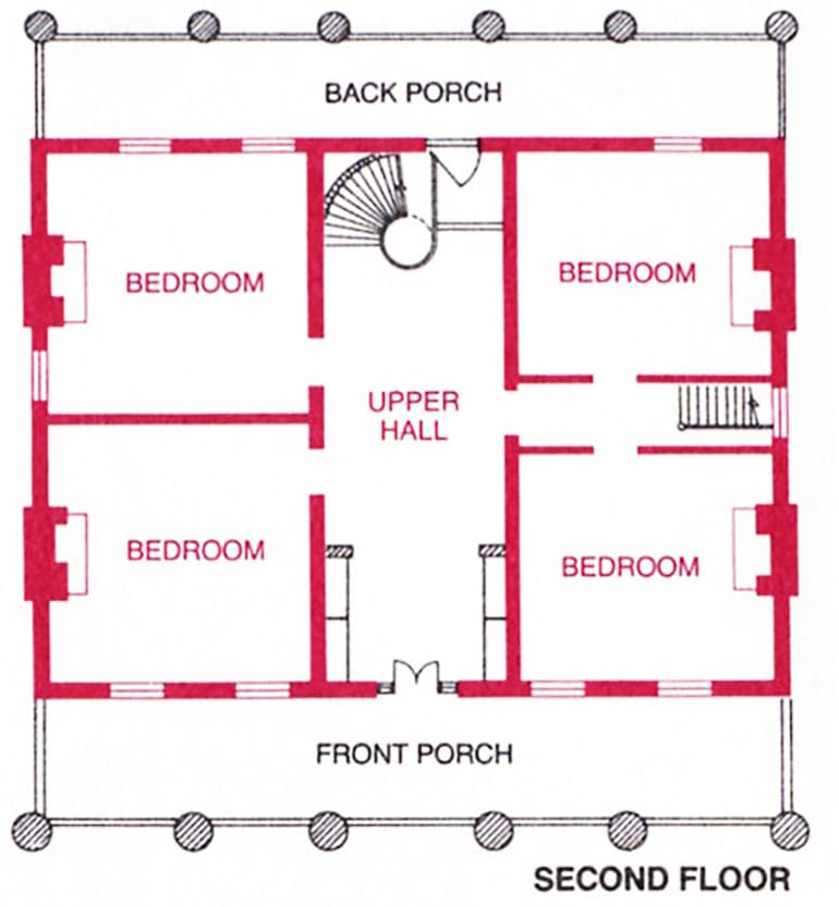 floor plan of the second floor of the hermitage - Second Floor Floor Plans