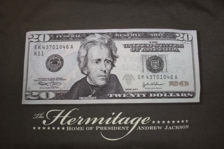 The $20 Bill with Andrew Jackson