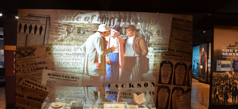 Andrew Jackson: Born for a Storm exhibit case