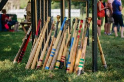 Vintage base ball bats at the Hermitage