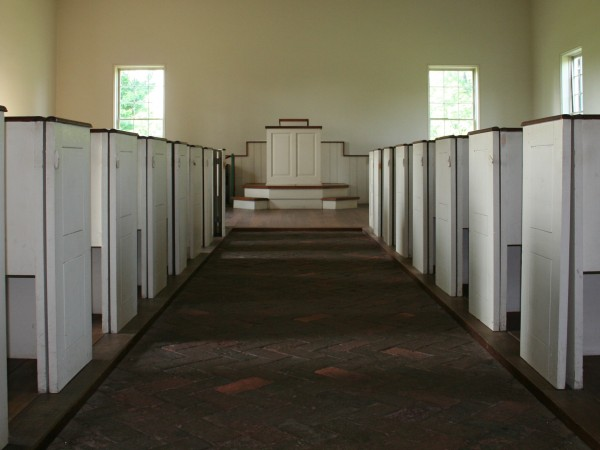 A View From The Back of the Aisle at The Hermitage Church