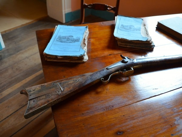 Andrew Jackson's Rifle and Books in His Front Office