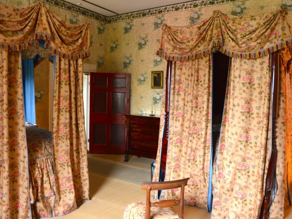 Draped Beds for Guests in the Second Guest Room of Andrew Jackson's Hermitage Mansion