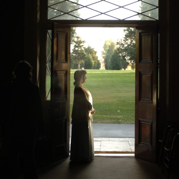 hermitage mansion tour An Actress Stands in the Doorway of The Hermitage Mansion