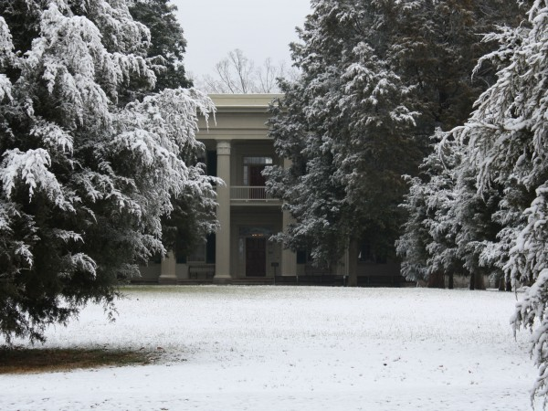 The Hermitage Mansion and Grounds in the Winter