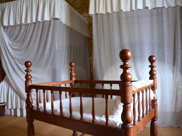 A Crib and Two Beds Prepared in the Nursery of Andrew Jackson's Hermitage Mansion