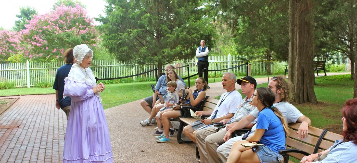 Hermitage Tour Guide Entertains Tour Group