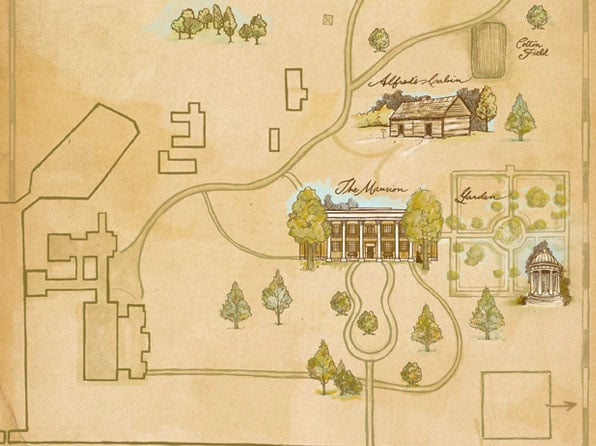 Illustrated Map of The Hermitage Mansion & Grounds
