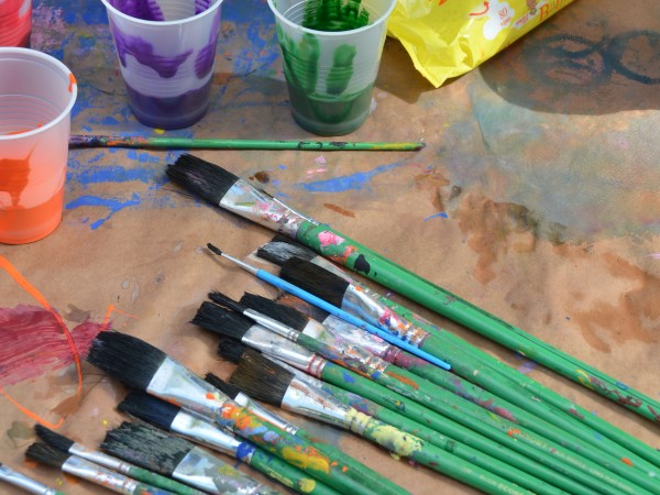 Various Paintbrushes and Art Supplies at The Hermitage