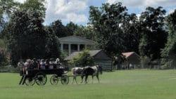 Wagon tour on grounds
