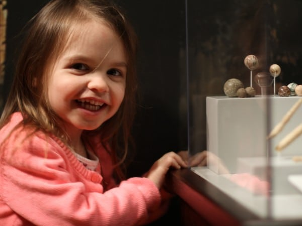 A girl at an exhibit