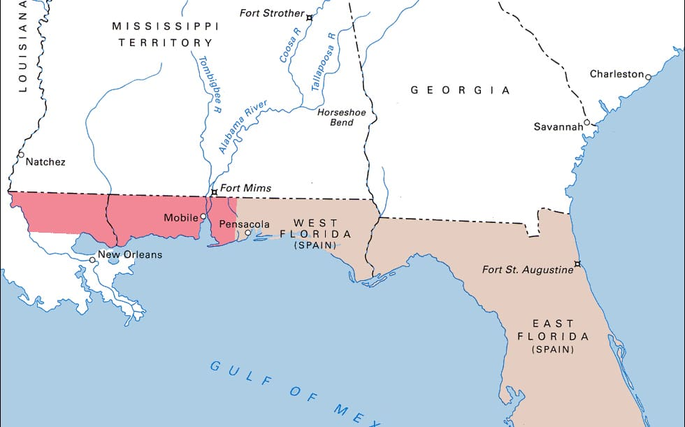 Battle of New Orleans map