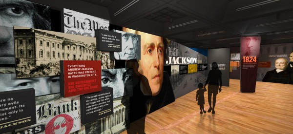 Born for a Storm Exhibit Digital Mockup - The Age of Jackson