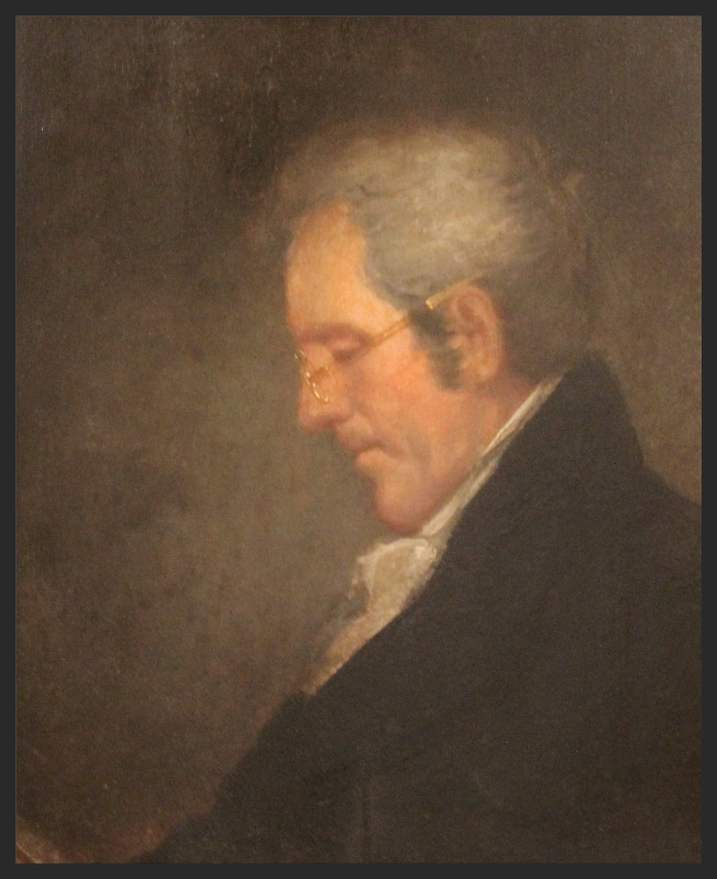 Oil painting,Portrait of President Andrew Jackson wearing glasses