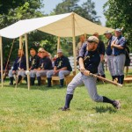 Baseball player swings