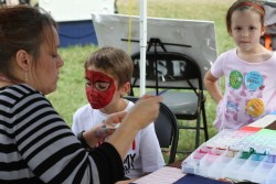 Face painting at the Hermitage Fall Fest